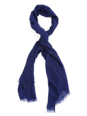 MID-NIGHT BLUE CASHMERE SCARF