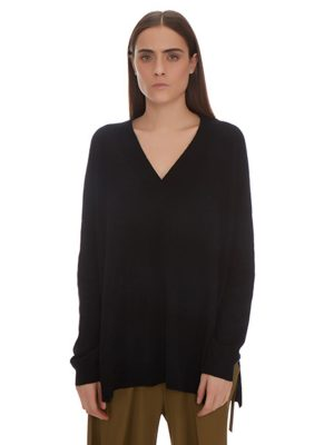 TRACY V NECK OVERSIZED CASHMERE PULLOVER