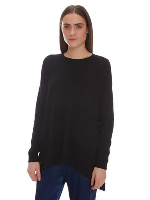 JOAN CASHMERE TRAPEZE PULLOVER WITH POCKETSJOAN CASHMERE TRAPEZE PULLOVER WITH POCKETS
