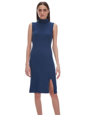 STACY RIBBED CASHMERE DRESS