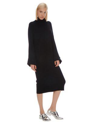 YOKO CUFFED CASHMERE DRESS