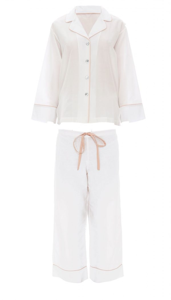 MITCH-DIDI COTTON PJ SET-BLANC-PEARL